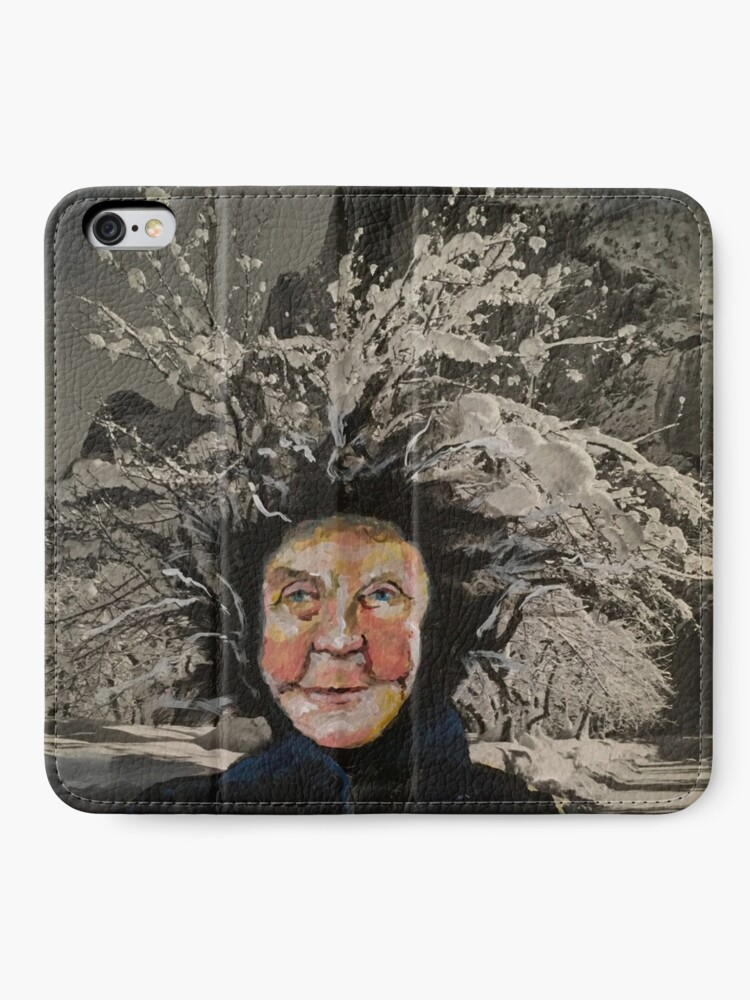 Alternate view of Granny Gets a Hairdo iPhone Wallet