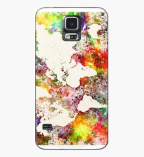 World map in watercolor  Case/Skin for Samsung Galaxy