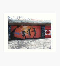 Graffitti Outdoors! Art Print