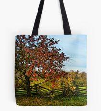 APPLE TREE & SPLIT RAIL FENCE Tote Bag