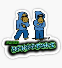 The Flight of the Conchords - The Hiphopopotamos Sticker