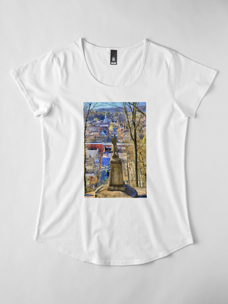Alternate view of A View from College Hill Premium Scoop T-Shirt
