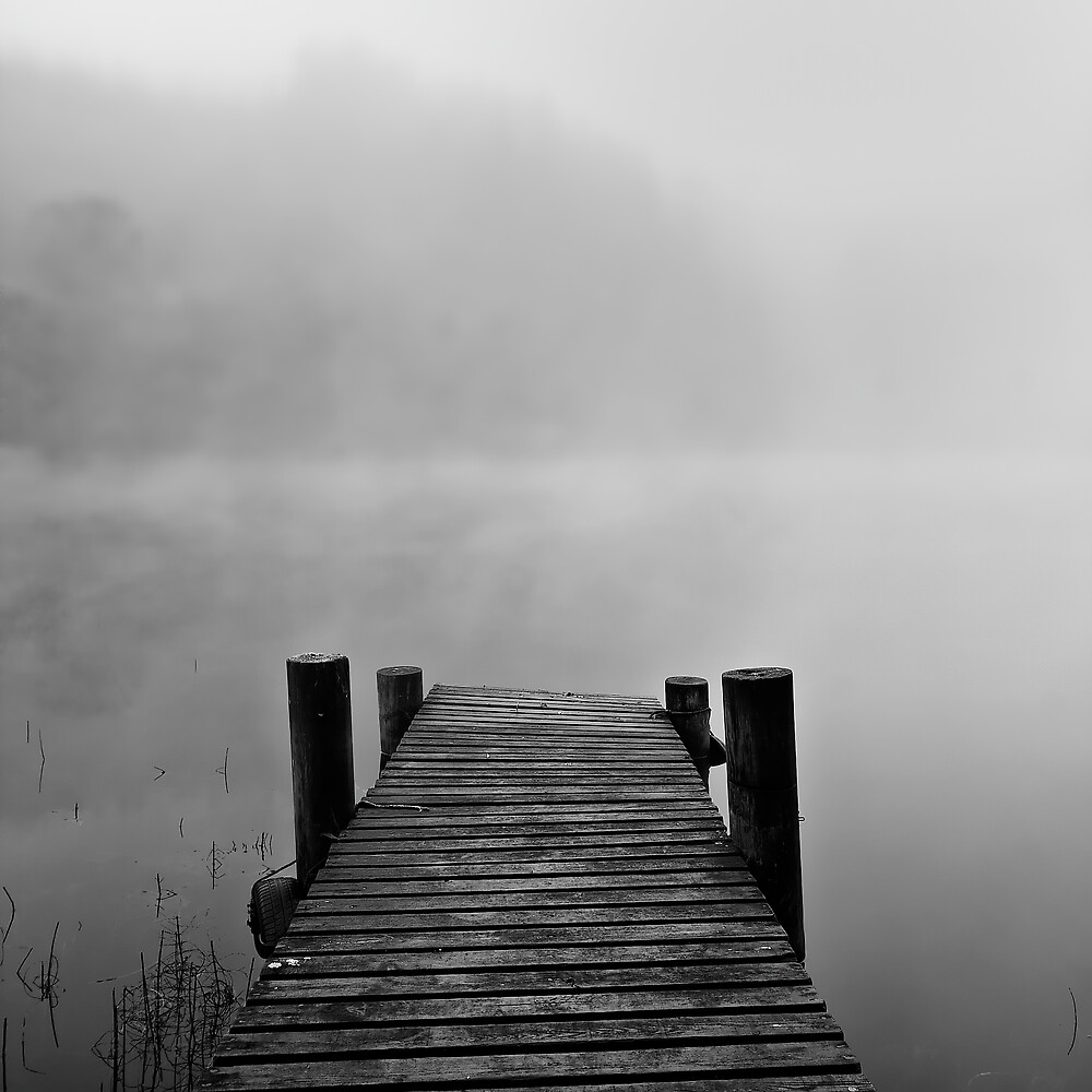 Quot Jetty In Fog Quot By Southsideimages Redbubble