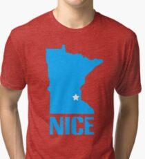Minnesota nice geek funny nerd Tri-blend T-Shirt