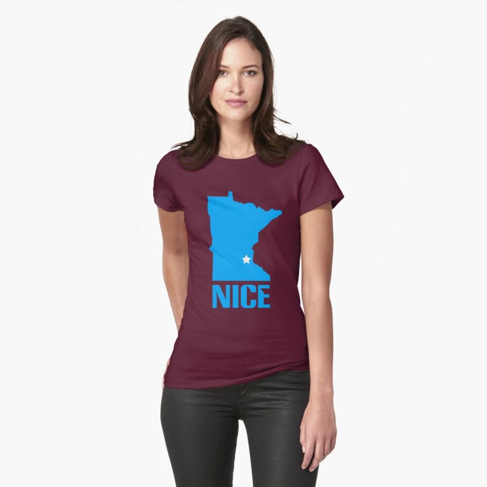 Minnesota nice geek funny nerd Womens T-Shirt Front