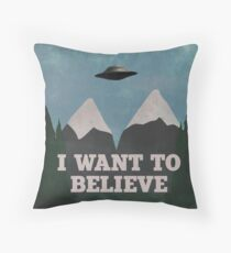 X-Files Twin Peaks mashup v2 Throw Pillow