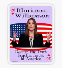 Marianne Williamson Card Transparent Sticker
