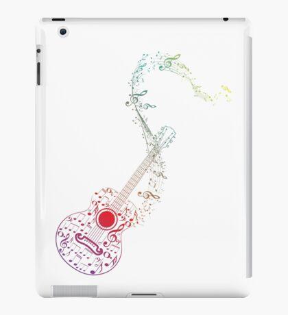 Gitarre und Musiknoten 10 iPad-Hülle & Klebefolie