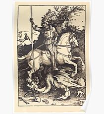Albrecht Dürer or Durer Saint George Killing the Dragon Poster