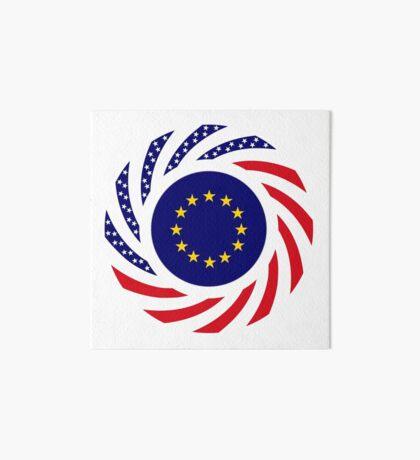 European American Multinational Patriot Flag Series Art Board Print