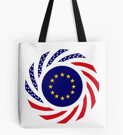 European American Multinational Patriot Flag Series Tote Bag