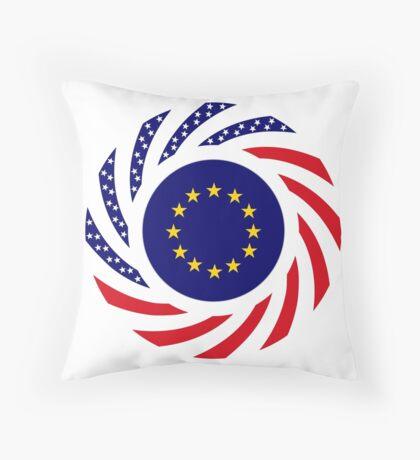 European American Multinational Patriot Flag Series Throw Pillow
