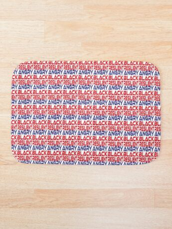 #OurPatriotism: Angry Black Resilient (Red, White, Blue) by Onjena Yo Bath Mat