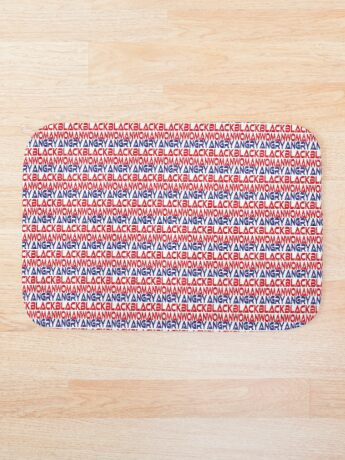 #OurPatriotism: Angry Black Woman (Red, White, Blue) by Onjena Yo Bath Mat