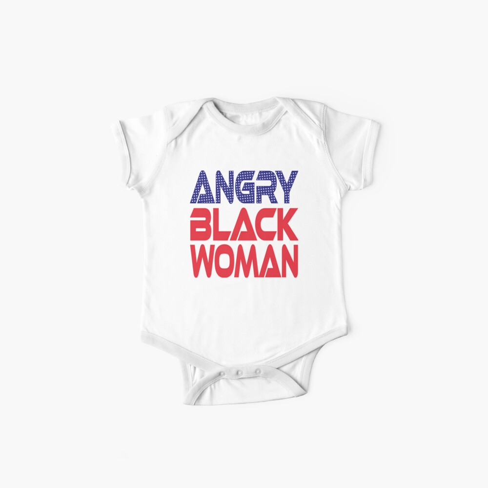 #OurPatriotism: Angry Black Woman (Red, White, Blue) by Onjena Yo Baby One-Piece