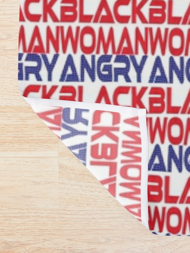 Alternate view of  #OurPatriotism: Angry Black Woman (Red, White, Blue) by Onjena Yo Shower Curtain