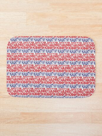 #OurPatriotism: My Humanity is Not Negotiable in Increments (Red, White, Blue) by Grey Williamson Bath Mat