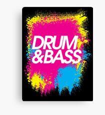 Drum & Bass (splash) Canvas Print