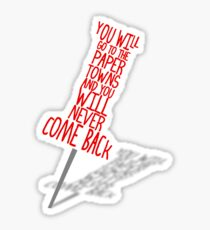 Paper Towns Sticker