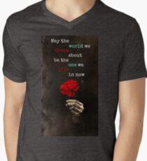 Hadestown Flower Design V-Neck T-Shirt
