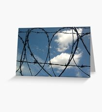 Heart of wire Greeting Card
