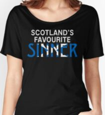"""Christopher Saynt """"Sinners are Winners""""  Women's Relaxed Fit T-Shirt"""