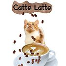 Catte Latte - cats and coffee by deannamill2287
