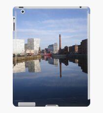 Liverpool Docks mirror landscape iPad Case/Skin