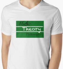 Official Logo For Music Theory Philosophy V-Neck T-Shirt