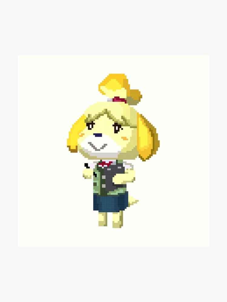 Pixel Isabelle Animal Crossing Nouvelle Feuille Imprimer Impression Artistique