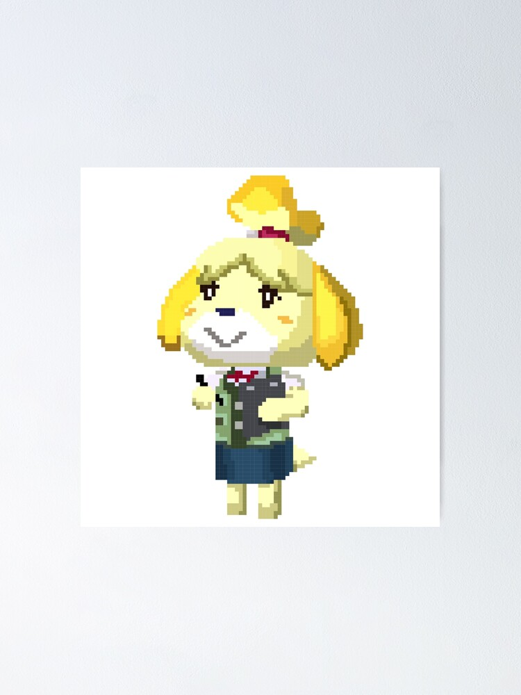 Pixel Isabelle Animal Crossing New Leaf Print Poster