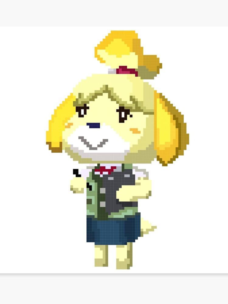 Pixel Isabelle Animal Crossing Nouvelle Feuille Imprimer Impression Sur Toile