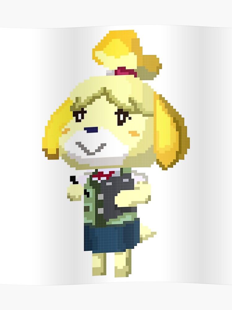 Pixel Isabelle Animal Crossing Nouvelle Feuille Imprimer Poster