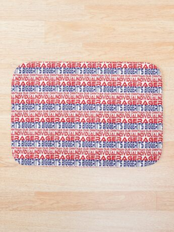 #OurPatriotism: It's Bigger than Our Own Individual Rage (Red, White, Blue) by Grey Williamson Bath Mat