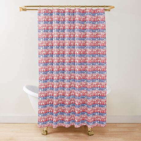 #OurPatriotism: It's Bigger than Our Own Individual Rage (Red, White, Blue) by Grey Williamson Shower Curtain