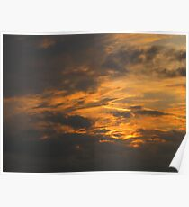 Toffee Apple Sunset Poster