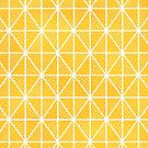 Yellow Triangle Dots Colorful Pattern by blueskywhimsy