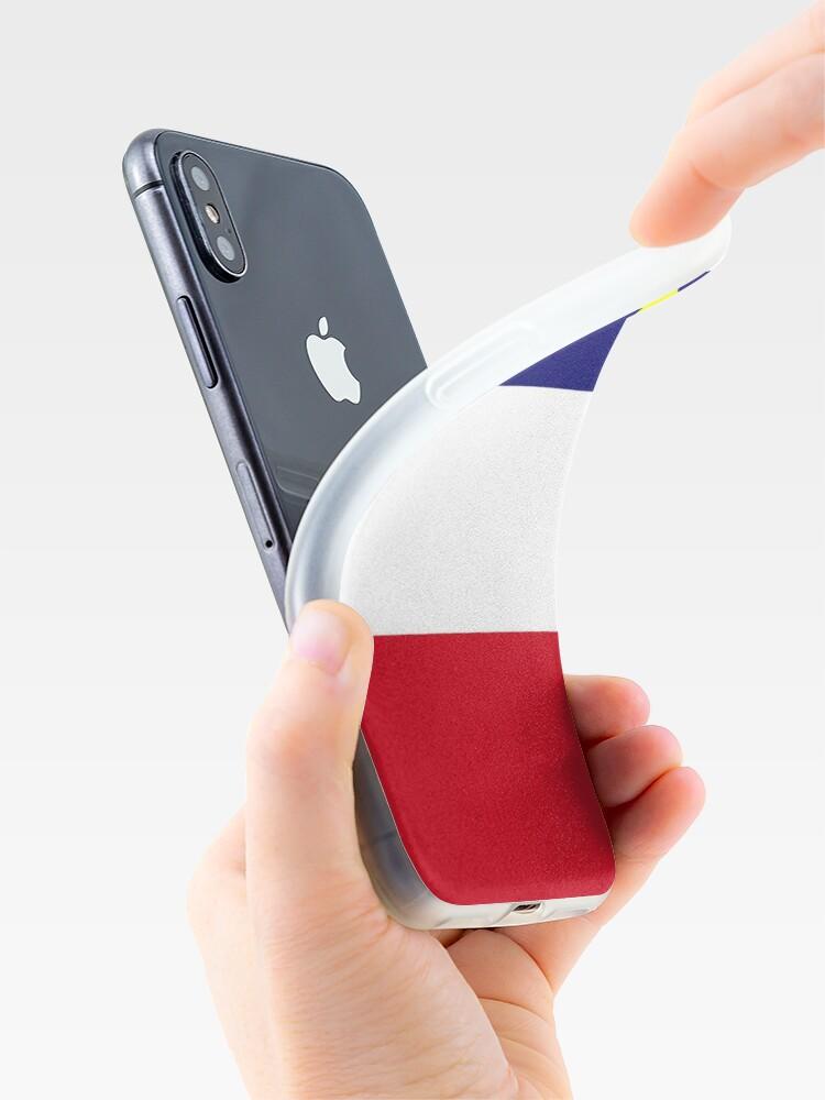 Coque iPhone ''Drapeau acadien': autre vue