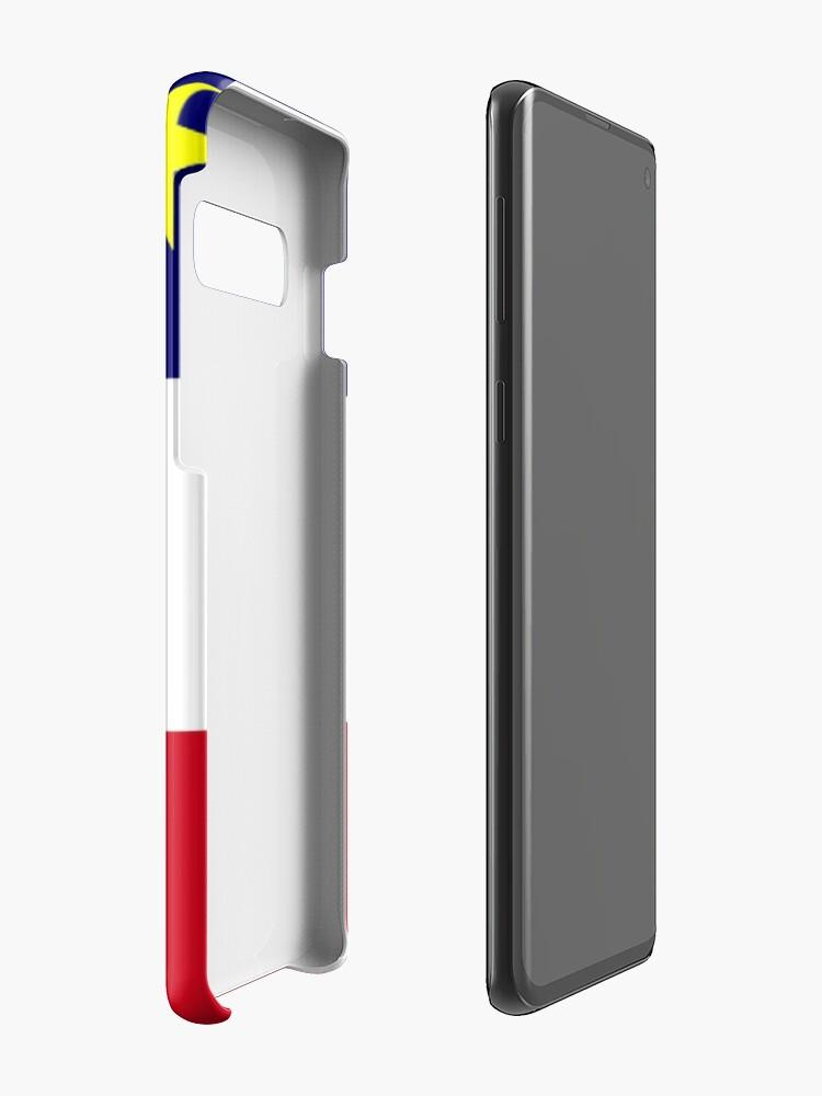 Coque et skin adhésive Samsung Galaxy ''Drapeau acadien': autre vue
