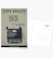 Log Off, Tune In, Opt Out (lifeanalog.com) Postcards