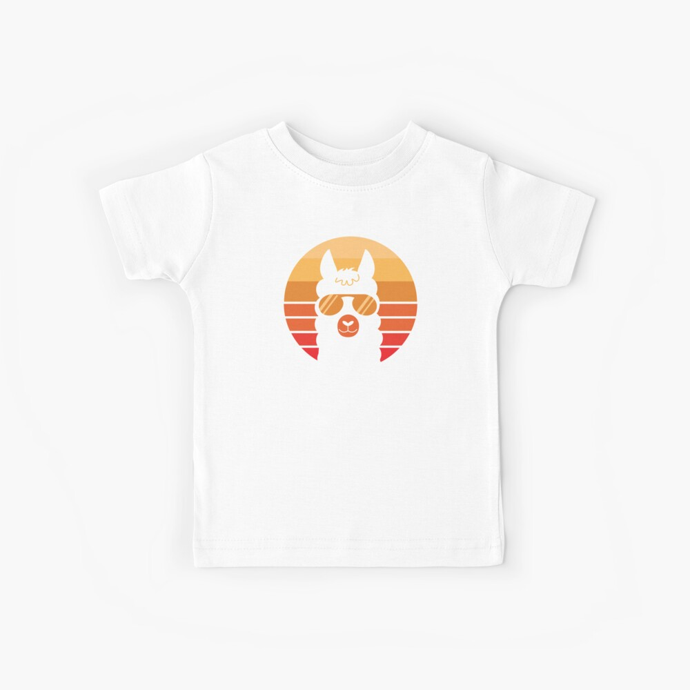 Retro Lama-Liebhaber Kinder T-Shirt