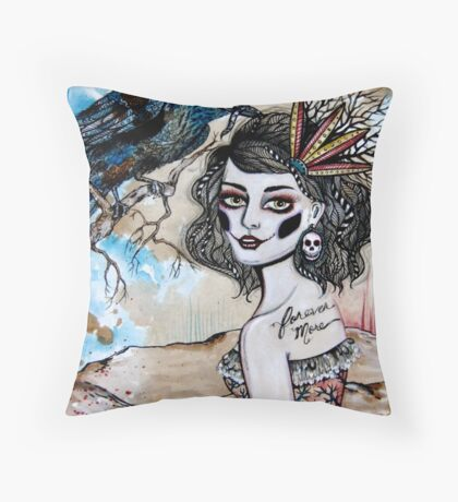 and the raven cried...forever more Throw Pillow