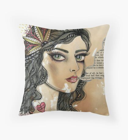 she only exists in ghost stories Throw Pillow