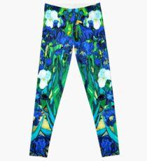 Van Gogh Garden Irises HDR Leggings