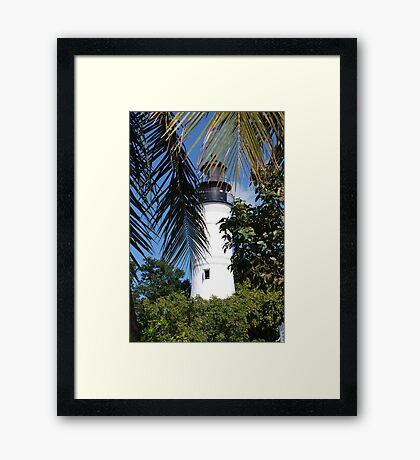 The Lighthouse in Key West, FL Framed Print