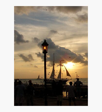 Sunset at Mallory Square in Key West, FL Photographic Print