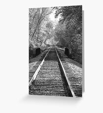 Railroad  in Rural MN Greeting Card
