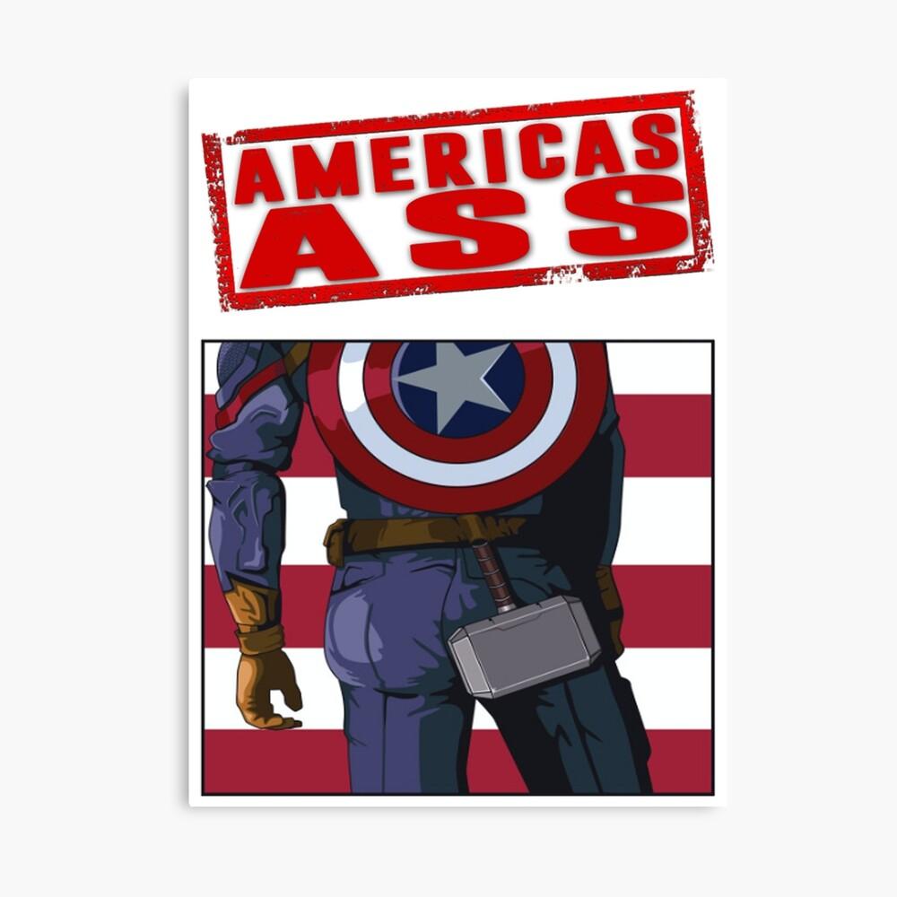 Amerikas Arsch Leinwanddruck