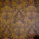 Linoleum Wallpaper from Victorian Era Home by Douglas E.  Welch