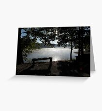 Morning by the Lake Greeting Card
